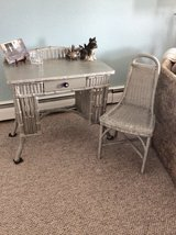 Antique Wicker Desk and Chair in Elgin, Illinois