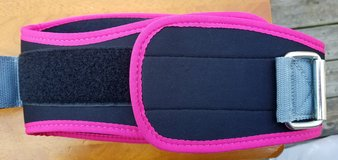 Women's pink Columba Steel Sweat Lifting Belt in Clarksville, Tennessee