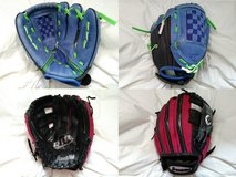 Baseball Gloves Youth Right Hand Pink or Blue * Cleaning out sale. Lots must go. in Wiesbaden, GE