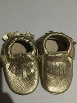 Toddler girl gold moccasins! in Yorkville, Illinois