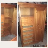 Wood Armoire for nursery in Naperville, Illinois