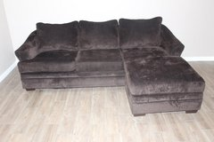 Very comfortable Sofa with chaise- Plush-Dark Brown in Kingwood, Texas