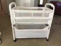 Arms Reach Baby Co Sleeper Bassinet Bed White Natural in Fort Polk, Louisiana