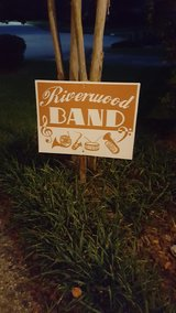 Riverwood Band sign in Kingwood, Texas