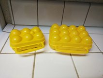Camping egg carriers in Travis AFB, California