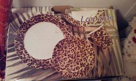 LEOPARD DINNER SET 16 PIECE BRAND NEW in Beaufort, South Carolina