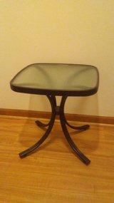 Outdoor Square Metal Side Table (New) in Palatine, Illinois