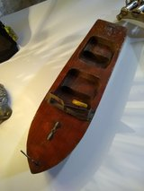 antique tramp art wooden carved model boat in Cherry Point, North Carolina
