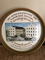 Naperville Sesquicentennial 1981 Metal Serving Tray & Crocks in Westmont, Illinois