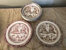 Punch and Judy Ceramic C Allerton bowls and plates circa 1890 in Oswego, Illinois
