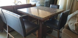 Marble High-Top Dining Room Table in Camp Pendleton, California