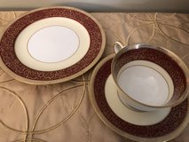 Noritake Rubigold Set of 6 plates and 6 cups & saucers in Oswego, Illinois