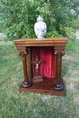 rare antique console table with drawer from a church in Spangdahlem, Germany