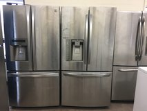 Stainless Steel French Door Refrigerator Units in Camp Pendleton, California