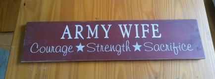 Army Wife Sign in Fort Lewis, Washington