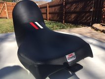 Custom motorcycle seat for Honda Africa Twin in Colorado Springs, Colorado