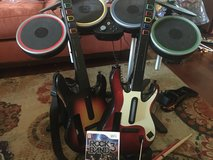 2 guitars, drums, and rock band game in Lockport, Illinois