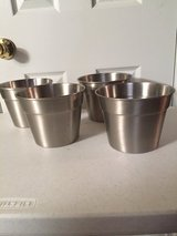 "6"" Stainless Steel Planters (price each) in Eglin AFB, Florida"