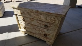 small dresser - custom built - unique finish and unique triangular shape 3x drawers solid piece ... in 29 Palms, California