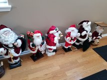 Various Santas and Holiday Items in Schaumburg, Illinois