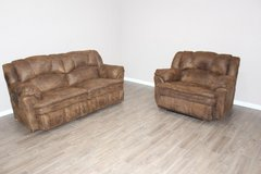 Leather Sofa and Over-sized Chair reclining set by Lane Furniture in Kingwood, Texas