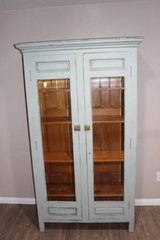 Vintage Turquoise / Blue / cupboard / china cabinet  FREE DELIVERY in Spring, Texas