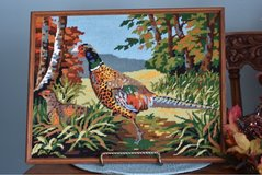 Fall picture Needlepoint Handmade pheasant in Algonquin, Illinois