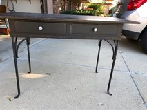 Black metal and wood desk in Westmont, Illinois
