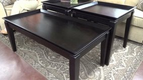 Coffee Table Dark Finish (larger table) in Fort Rucker, Alabama