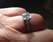Platinum ring with 1ct CZ in Fort Drum, New York