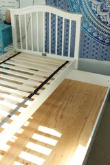 White Twin Trundle Bed with Two (2) Mattresses in Joliet, Illinois
