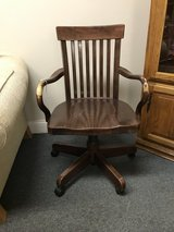 Wooden Desk Chair in Bolingbrook, Illinois