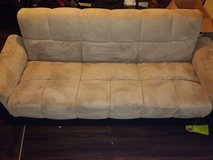 Microfiber couch/futon in Fort Campbell, Kentucky