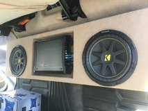 Nissan Titan Custom subwoofer box, speakers and amp in Hinesville, Georgia