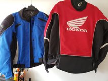 Motorcycle Jackets: 1 Red/1Blue in Houston, Texas