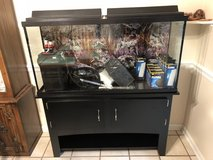 55 Gallon Aquarium with stand and external filter in Oswego, Illinois