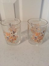 2 Peach Floral Votive Candle Holders in Eglin AFB, Florida