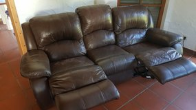 Leather Reclining Sofa in Ramstein, Germany
