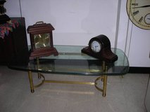 Glass and Brass Coffee Table in Quantico, Virginia