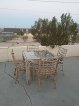 solid bamboo patio table and chairs in 29 Palms, California