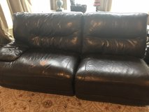 Leather couch and loveseat in Glendale Heights, Illinois