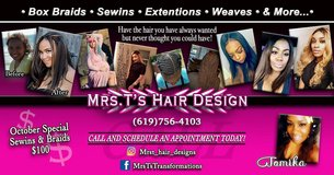 $125 Sewins extensions and braids in Camp Pendleton, California