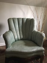 Vintage channel back chair in Bartlett, Illinois