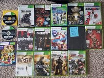 Xbox 360 Kinect, gaming chair, & 17 games in Fort Hood, Texas