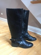 NINE WEST WOMEN'S NW BLACK BLOGGER BOOTS Sz (8M) in Lockport, Illinois