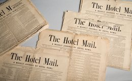 1 8 8 4 -  134 Year Old News Papers --- The Hotel Mail in Tinley Park, Illinois