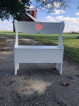 Wooden Bench with Storage in Yorkville, Illinois