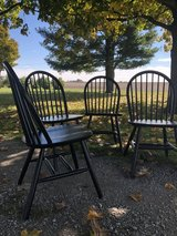 Black Wooden Dining Chairs in Yorkville, Illinois