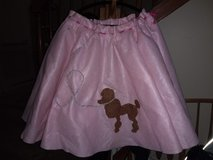 Halloween pink poodle costume in Oswego, Illinois