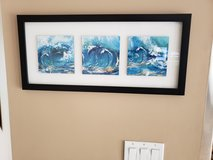 Framed wave picture in Joliet, Illinois